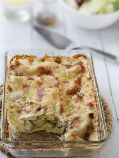 poivre, lait, courgette, fromage de chèvre, lasagnes, maïzena, sel, gruyère râpé