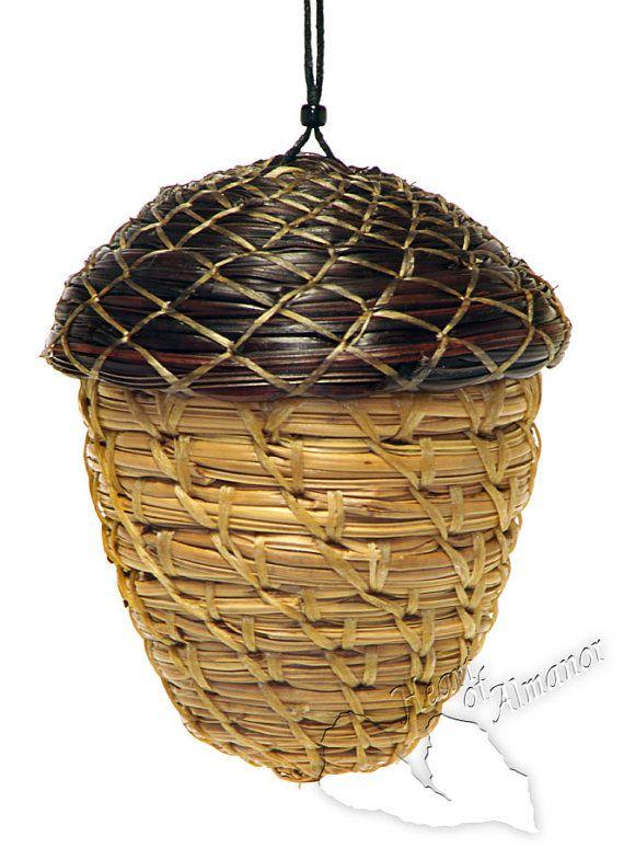 Pine needle ornament/treasure box from Etsy