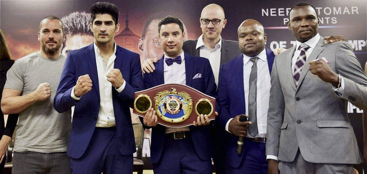 Vijender Singh Vs Francis Cheka Face Off In Delhi On 17th December 2016
