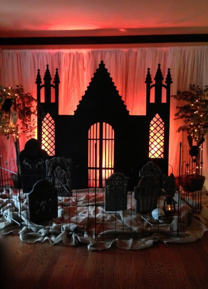 halloween decor gothic storybook castle backdrop halloween party ideashalloween