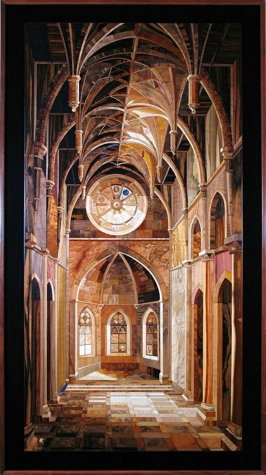 Handmade Rare Wood Marquetry Artwork From World Renowned Hungarian Master by Joseph Wright | CustomMade.com
