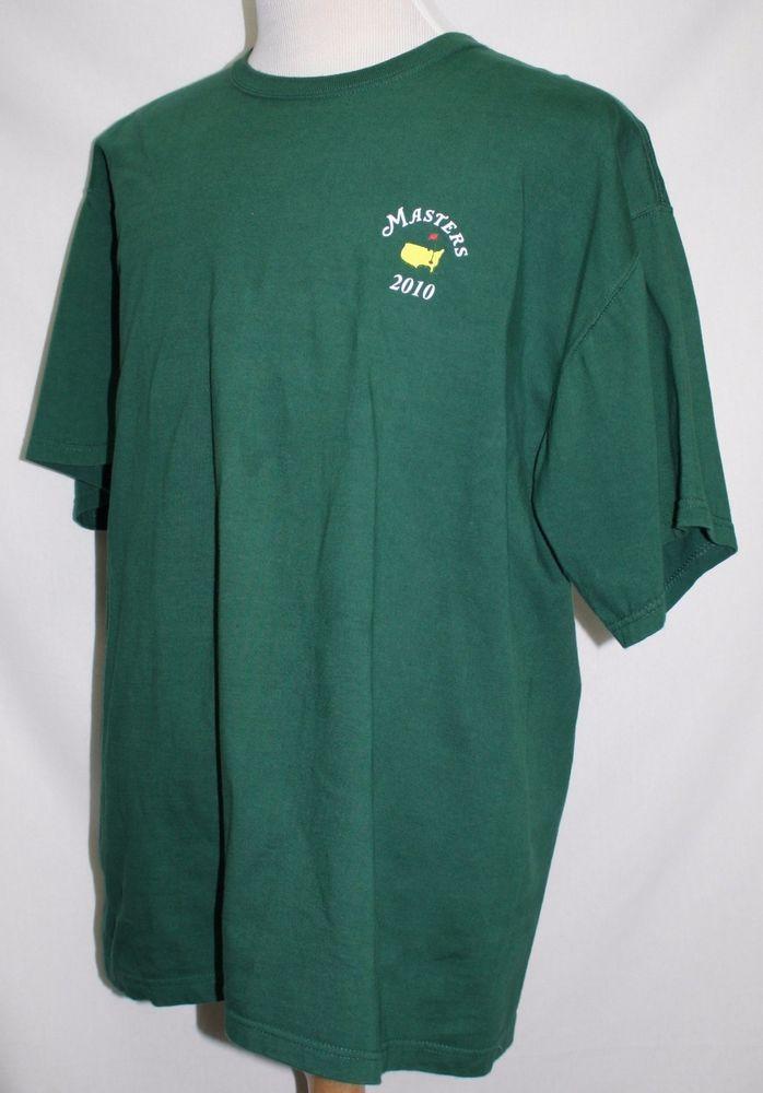 2010 Augusta National Masters Tournament Crew Neck Green XL USA PRISTINE! #Masters #BasicTee