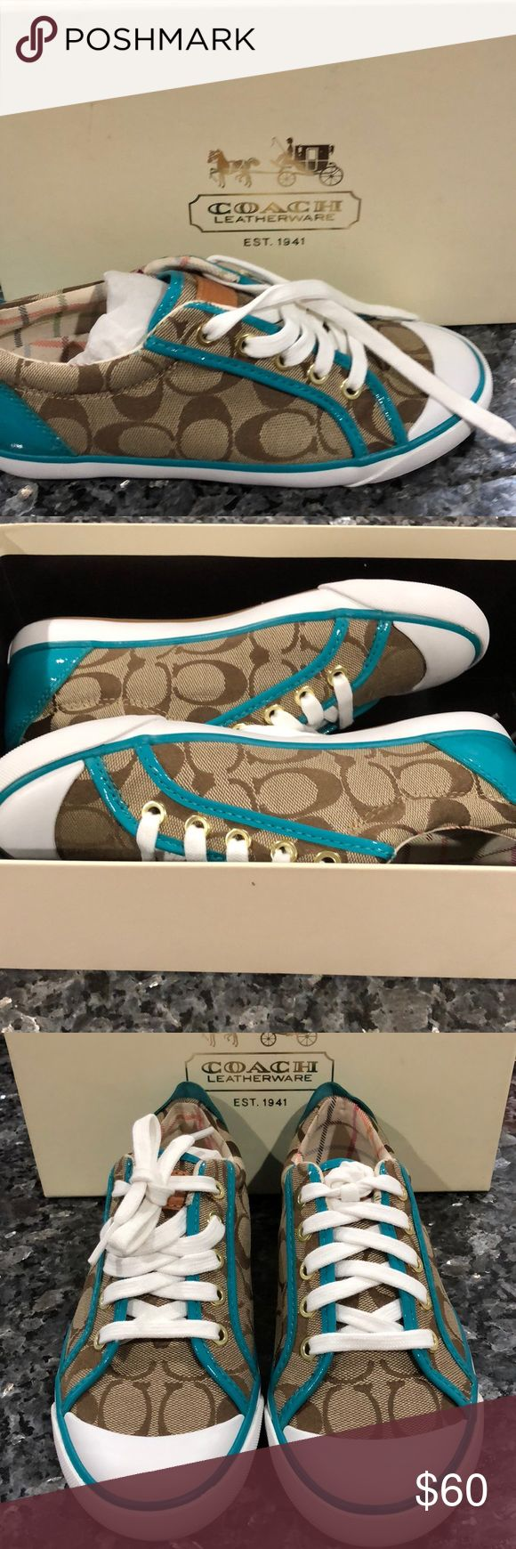 Brand New Coach Sneakers Super cute brand new Coach sneakers! Still in box, never worn. Coach Shoes Sneakers
