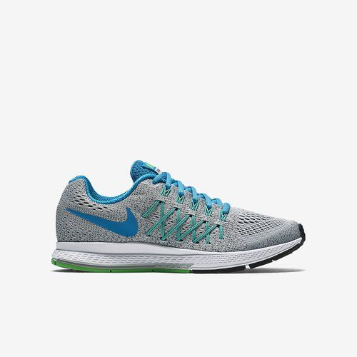 Nike Kid's Zoom Pegasus 32 GS, PURE PLATINUM/BLUE LAGOON-COOL GREY,