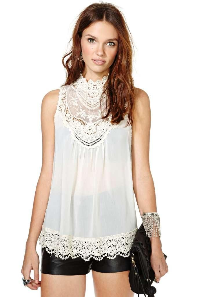 Lyric Crochet Top