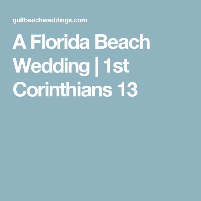 A Florida Beach Wedding | 1st Corinthians 13