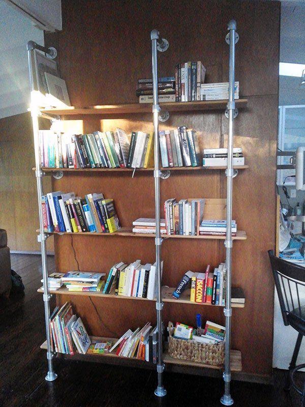 Popular Pipe Shelves How To Build Them KeeKlamp DIY - Diy build industrial hanging shelf