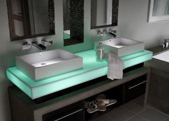 corian illuminated countertop