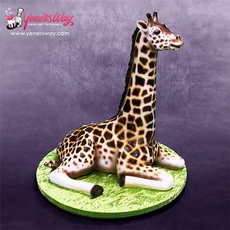 How to maka a 3D Giraffe Cake #cake #tutorial http://www.yenersway.com/blog/tips-tricks/how-to-make-3d-giraffe-cake/