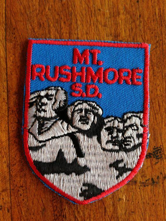 Mount Rushmore South Dakota Vintage Travel Patch