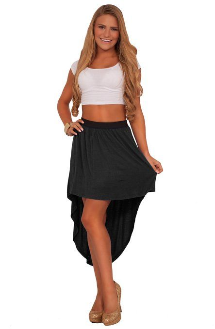 Brace yourself dolls, our sexy hemmed high-low cotton skirt is here! Designed exclusively for all the pretty young girls, our high low skirt features a soft lightweight