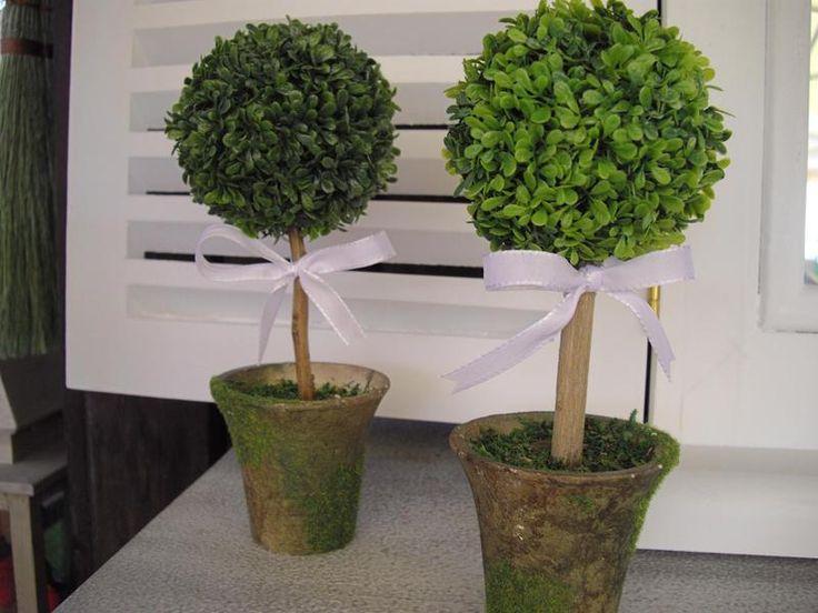 tischdeko buchsb umchen hochzeit taufe kommunion von villino luca auf taufe. Black Bedroom Furniture Sets. Home Design Ideas