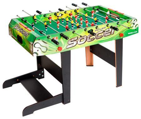 Arsstar Футбольный стол трансформер greenform 121  — 15990 руб.  —  Футбол – игра, в которую можно играть не только на огромном поле, имея по 11 игроков в команде. Если вы любитель этой прекрасной игры, то с футбольным столом GREENFORM сможете играть в футбол даже дома, имея в распоряжение всего несколько метров. К тому же стол может складываться: игровое поле можно разместить вертикально, перпендикулярно полу. В таком положении стол можно перевозить или убирать после игры, чтобы он не…