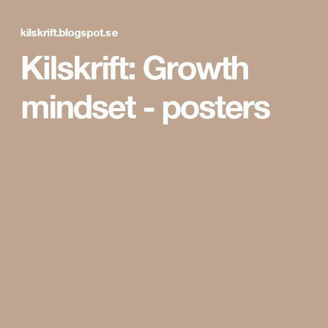 Kilskrift: Growth mindset - posters