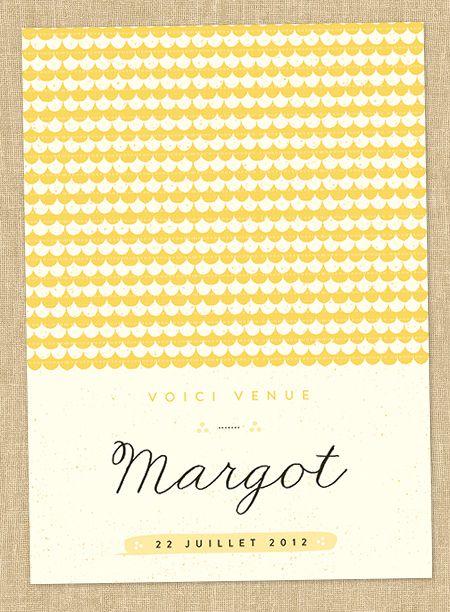 Faire-part de naissance fille : Petite laine (www.dioton.fr)