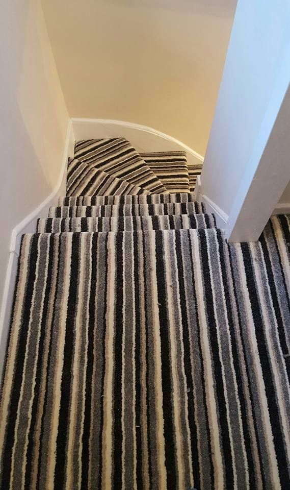I think this is Boston stripe saxony carpet by J S Carpets - think this is the one (husky fluff coloured)