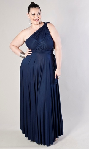 This is the Anastasia Maxi Dress in Deep Blue.