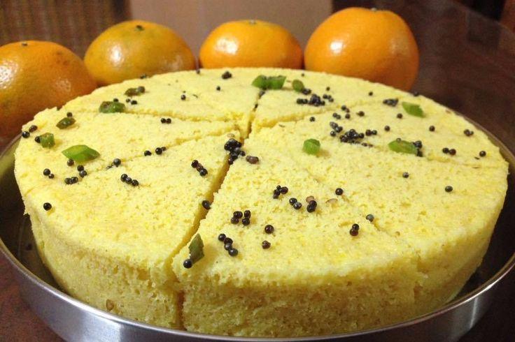 Orangey Besan Dhokla - Healthy Breakfast