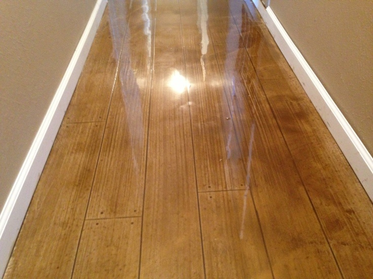 Concrete Wood Floor - I LOVE this! It's stained concrete to look like  hardwood. - 18 Best Floor Stains. Images On Pinterest Concrete Staining