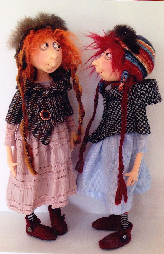 PATTERN - Connie - sweet character cloth doll PATTERN - Jill Maas