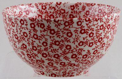 Burleigh Felicity Red Sugar Bowl small 10cm diameter 5cm high x1  (discontinued)