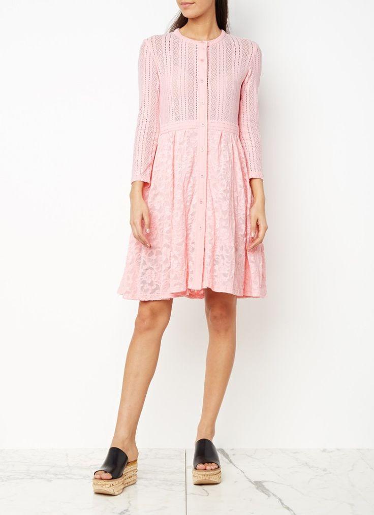 Maje Roxo A-lijn jurk van gebloemd kant • de Bijenkorf