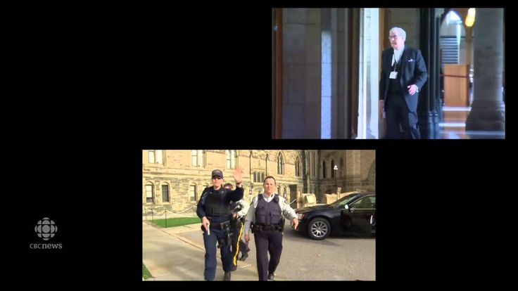RAW: Parliament Hill shooting: 3 cameras, 3 videos