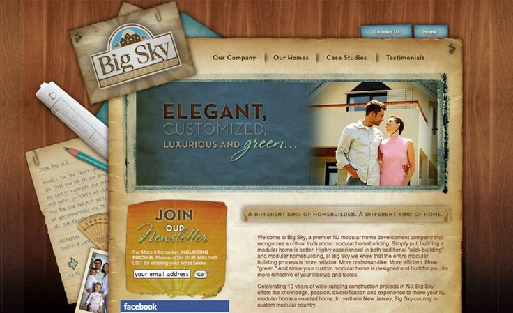 Web design for a Modular Home Builder in Bergen County, NJ.