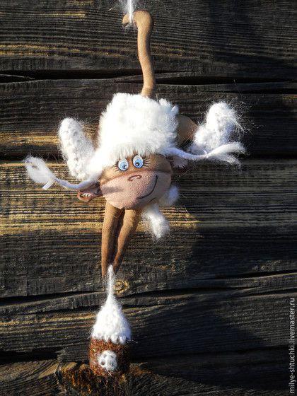 Ароматизированные куклы ручной работы. Снегурочка(обезьянка). Надежда Шишова. Интернет-магазин Ярмарка Мастеров. Обезьянка, позитив, мех искуственный