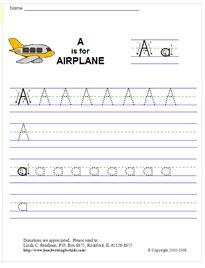 fab family fun learning to write preschool kids stuff handwriting practice sheets writing. Black Bedroom Furniture Sets. Home Design Ideas