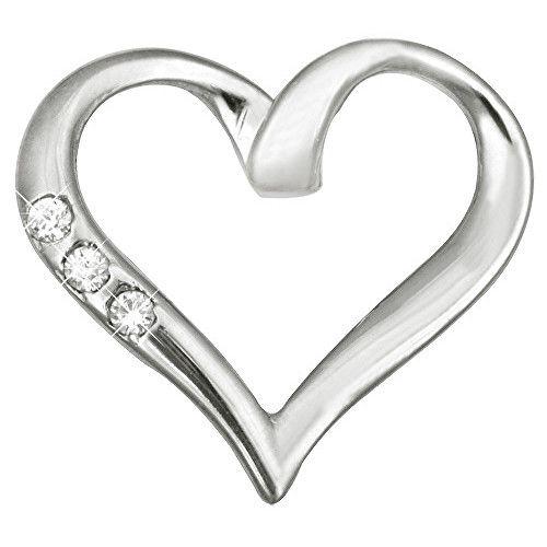 Brilio Pandantiv din aur cu cristale inimă 249 001 00354 07 - 0,85 g