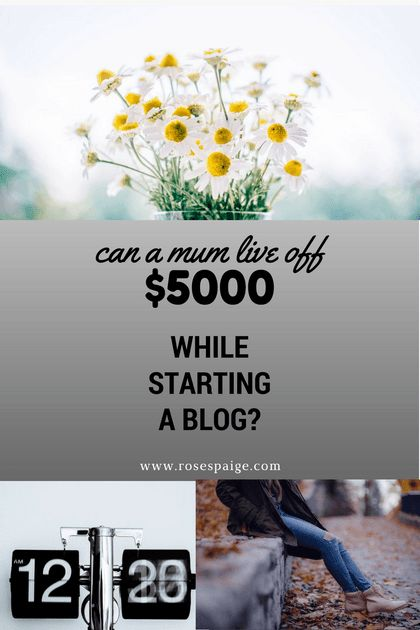Can A Mum Live Off $5000 while Starting A Blog - Roses Paige