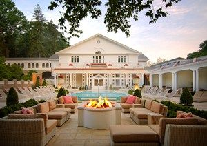 The Spa at the Omni Homestead in Hot Springs, Virginia - heated pools allow for winter spa fun, too!