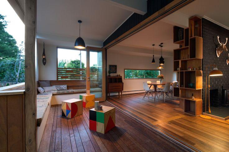 Nunawading project - Maxa Design Pty Ltd #outdoorentertaining #benchseat #interiordesign #architecture #deck #lighting
