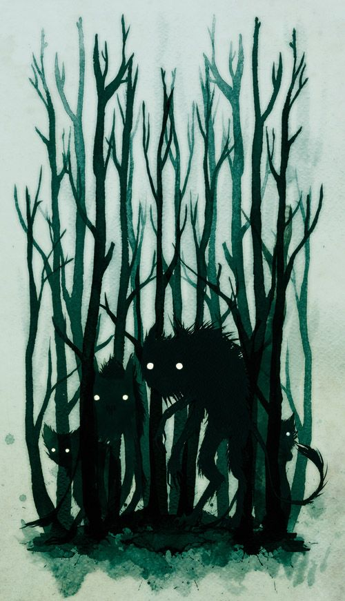 Kalevala: Folklore Illustrations by Jenni Saarenkyla, via Behance