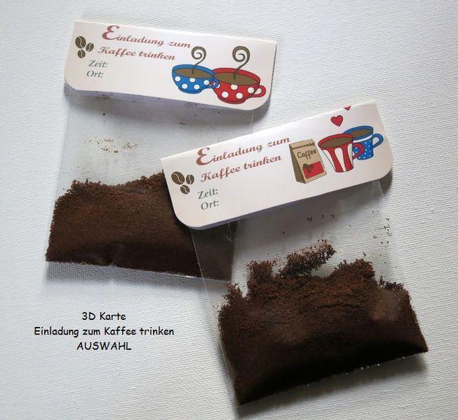 Einladung Kaffee - Tütenzauber - AUSWAHL  von ღKreawusel-Designღ auf DaWanda.com