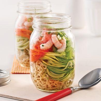 Soupe instantanée aux crevettes en pot - Recettes - Cuisine et nutrition - Pratico Pratique