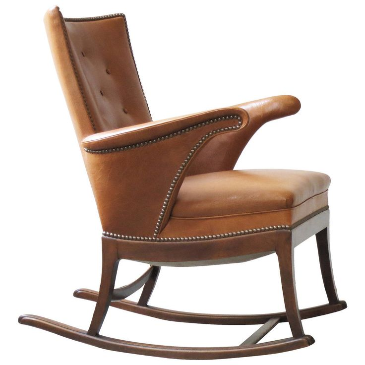 Beautiful 1930s Rocking Chair By Frits Henningsen   From A Unique Collection Of  Antique And Modern Rocking