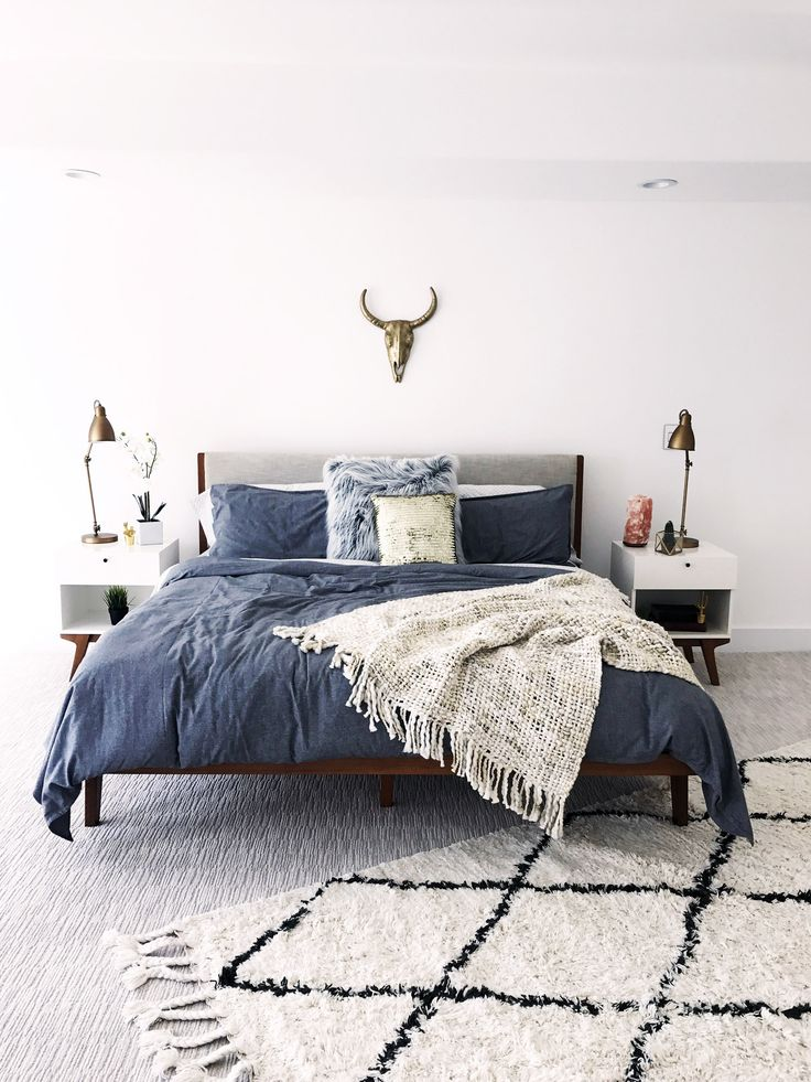 Mid- Century bedroom Inspiration | Before + After - A Modern House Gets A Makeover From The Ground Up