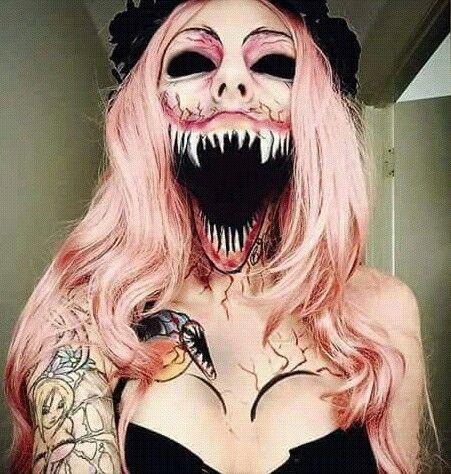 creepy halloween makeup - Scary Halloween Ideas