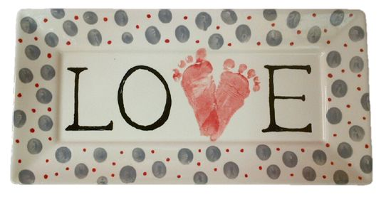 Heart Footprints - For more ideas and inspiration go to http://crockadoodle.com/gallery/great-gifts