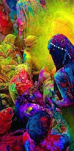 Holi Festival, India.  m gustan los colores