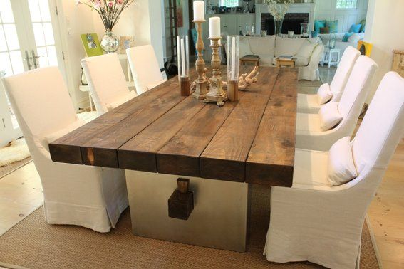 Natural Wood Dining Room Table