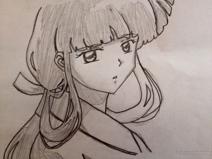 This is a drawing of Kikyo from InuYasha.