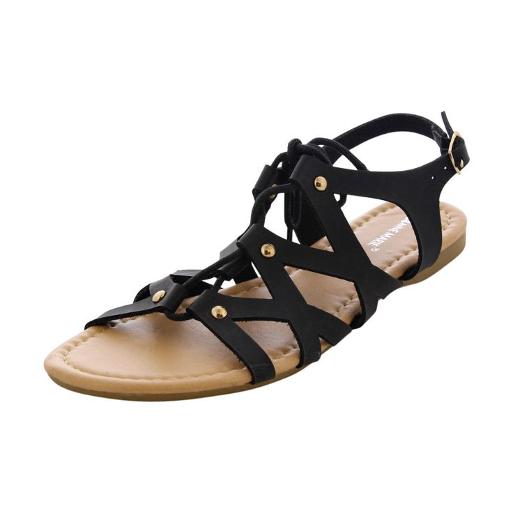 Anne Marie - Girl's Tie Up Sandals - Black