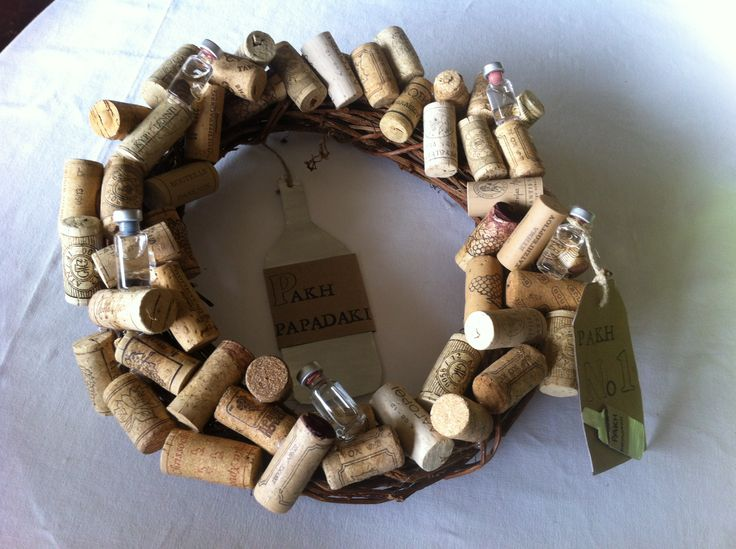 wreath with corks