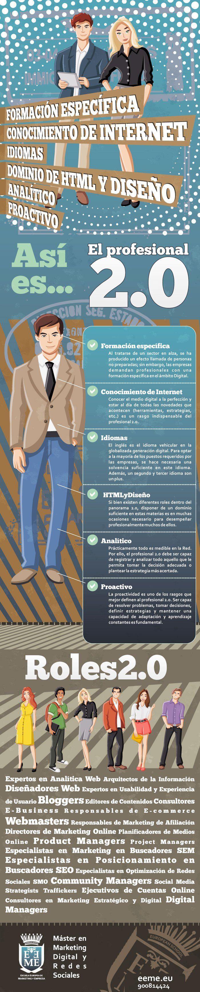 Así es el Profesional 2.0 #infografia #infographic #socialmedia #marketing