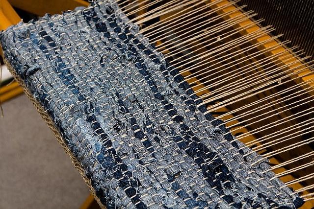 Denim Weaving By Lollyknit Via Flickr Spinning Weaving
