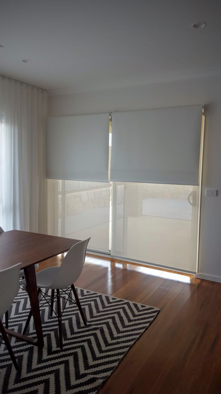 Brooke Jensen - Roller Blinds Block out Vibe Extra Cloud & Sunscreen Clearview