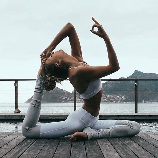 "@aloyoga ""Passion gives me moments of wholeness."" – Anais Nin. ✨ @SjanaElise is featured in the Goddess Bra & Goddess Legging. #aloyoga #beagoddess #regram"